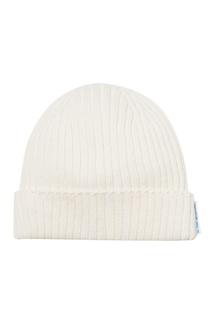 Белая шапка в рубчик Blank.Moscow