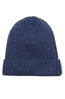 Синяя шапка в рубчик Blank.Moscow