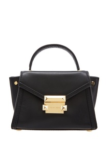 Черная кожаная сумка Whitney Michael Michael Kors