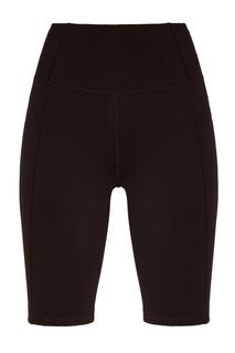 Черные бархатные шорты-велосипедки Sport Angel