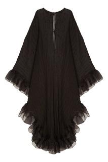 Черное платье с отделкой Esve
