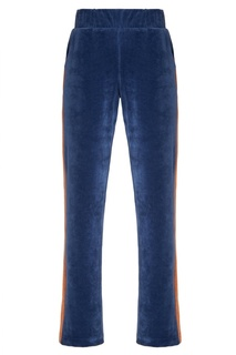 Синие бархатные брюки с лампасами Sport Angel