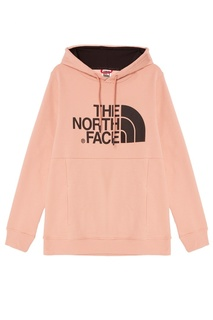 Розовое худи с логотипом The North Face