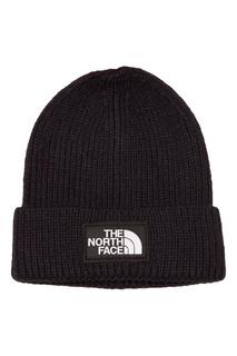Темно-синяя шапка с логотипом The North Face