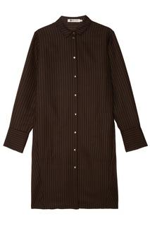 Черное платье-рубашка в полоску Белка