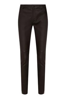 Облегающие кожаные брюки Izeta
