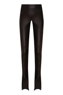 Кожаные брюки с разрезами Izeta