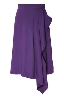 Расклешенная фиолетовая юбка миди Белка