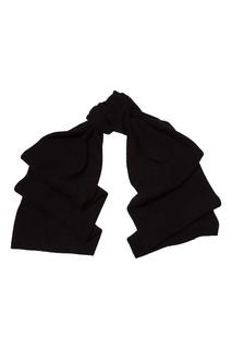 Черный кашемировый шарф Tegin