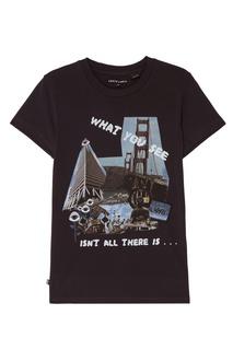 Черная футболка с принтом Levi's® Line 8 Levis®