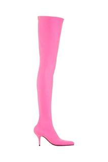 Розовые ботфорты Balenciaga