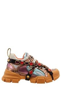 Разноцветные кроссовки Flashtrek со съемной лентой Gucci