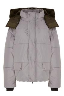 Стеганая куртка с контрастным капюшоном Novaya