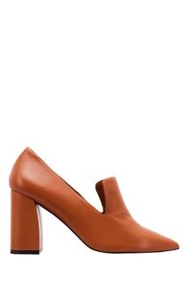Коричневые туфли с острым носком Adolfo Dominguez