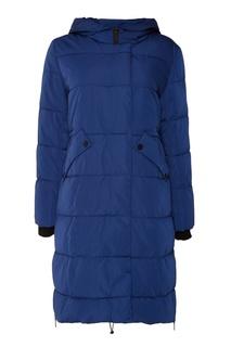 Стеганое синее пальто Adolfo Dominguez