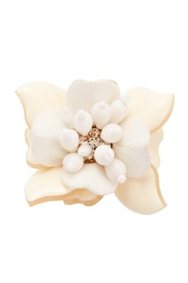 Кольцо с белым цветком Oscar de la Renta