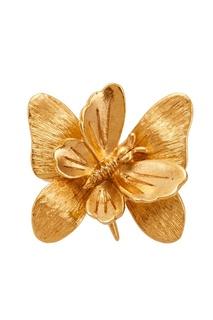 Кольцо с цветком и бабочкой Oscar de la Renta