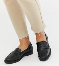 Черные лоферы для широкой стопы New Look - Черный