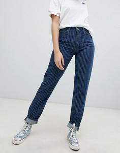 Полосатые джинсы в винтажном стиле с завышенной талией Lee - Синий