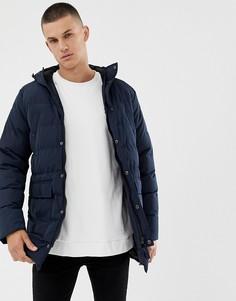 Длинная дутая куртка Tokyo Laundry - Темно-синий
