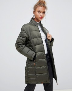 Длинное стеганое пальто Blend She Dodi - Зеленый