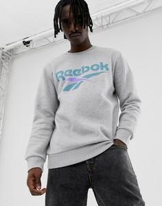 Серый классический свитшот Reebok DW9518 - Серый