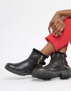 5a58e0e1bd80 Кожаные ботинки на подкладке из искусственного меха Carvela - Черный