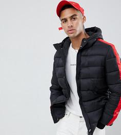 Дутая куртка с красными полосками Sixth June - Черный