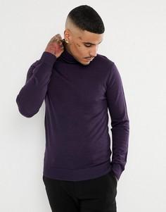 Водолазка тонкой вязки с добавлением мериносовой шерсти Jefferson - Фиолетовый