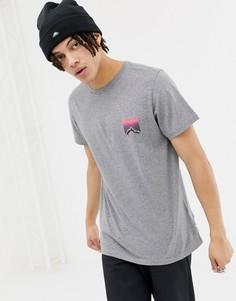 Серая меланжевая футболка с принтом на спине Penfield Caputo - Серый