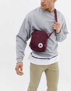 Бордовая сумка через плечо с нашивкой Converse Chuck Taylor - Красный