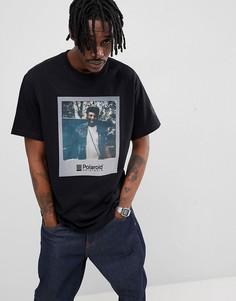 Черная футболка с принтом Polaroid на груди Element - Черный