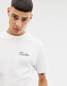 Белая футболка с принтом в виде черепа Primitive - Белый