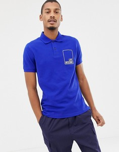 Футболка-поло с логотипом Love Moschino - Синий