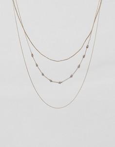 Ярусное ожерелье Nylon - Золотой