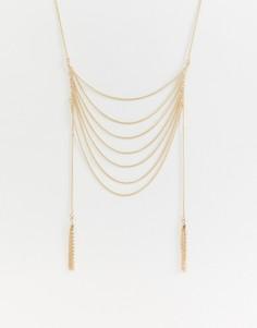 Многоярусное ожерелье с дизайном лесенка Missguided - Золотой