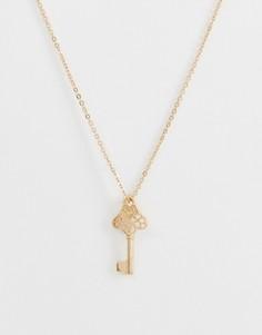 Ожерелье с подвеской-ключом Missguided - Золотой