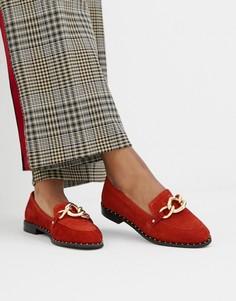 Кожаные туфли на плоской подошве River Island sammy mega stores - Коричневый
