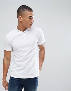 Белая футболка-поло из органического хлопка Esprit - Белый