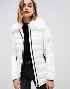Пальто с поясом Gianni Feraud - Кремовый