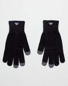 Черные вязаные перчатки Penfield Nanga Etouch - Черный