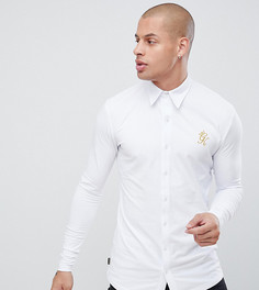 Белая обтягивающая рубашка с длинными рукавами Gym King эксклюзивно для ASOS - Белый