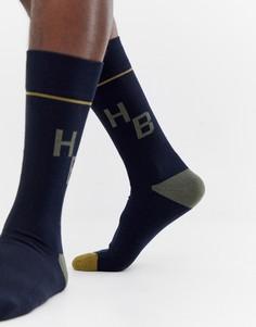 Носки с логотипом BOSS hb - Темно-синий
