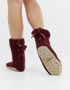 Носки-слиперы с бархатным бантом Hunkemoller - Красный