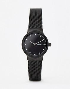 Черные часы с сетчатым браслетом Skagen SKW2747 Freja - 26 мм - Черный