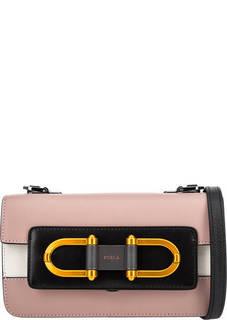 Маленькая кожаная сумка с металлическим декором Bellaria Furla