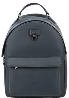 Синий кожаный рюкзак Favola Furla