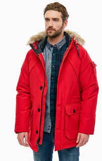 Красная парка с капюшоном и карманами Hoosac Penfield