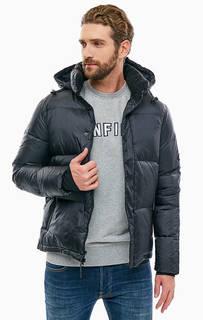 Черная демисезонная куртка со съемным капюшоном Penfield
