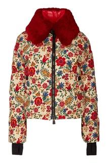c39314e1810 Куртка с цветочным принтом и контрастным воротником 3 Moncler Grenoble
